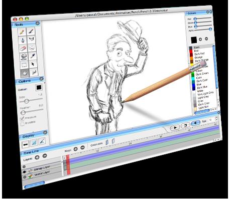 Pencil 0.4.4b - δωρεάν πρόγραμμα ζωγραφικής